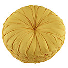 Yellow Ruched Throw Pillow