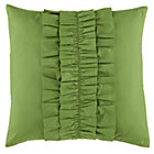 Green Ruffle Throw Pillow