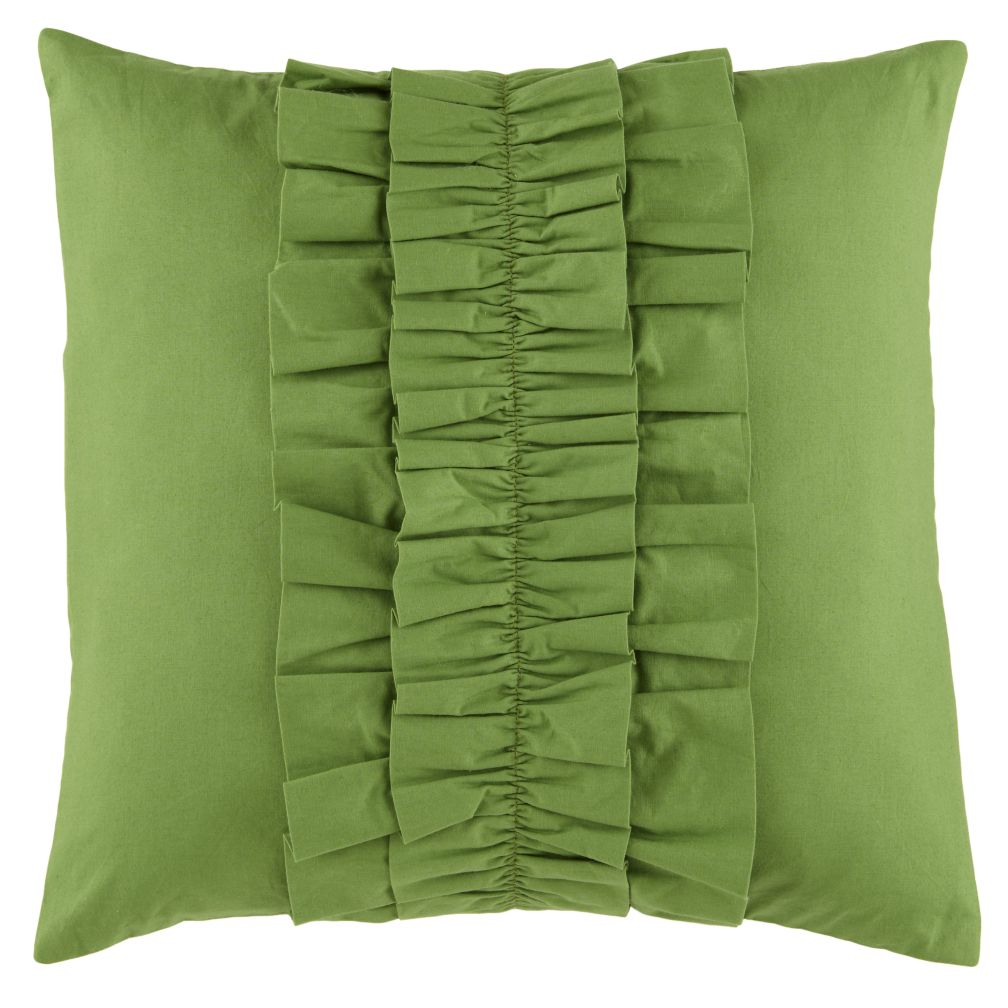Green Ruffle Pillow