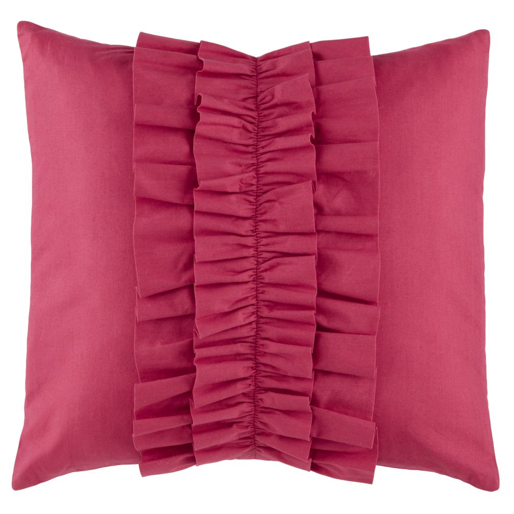 Hot Pink Ruffle Pillow