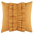 Orange Ruffle Throw Pillow