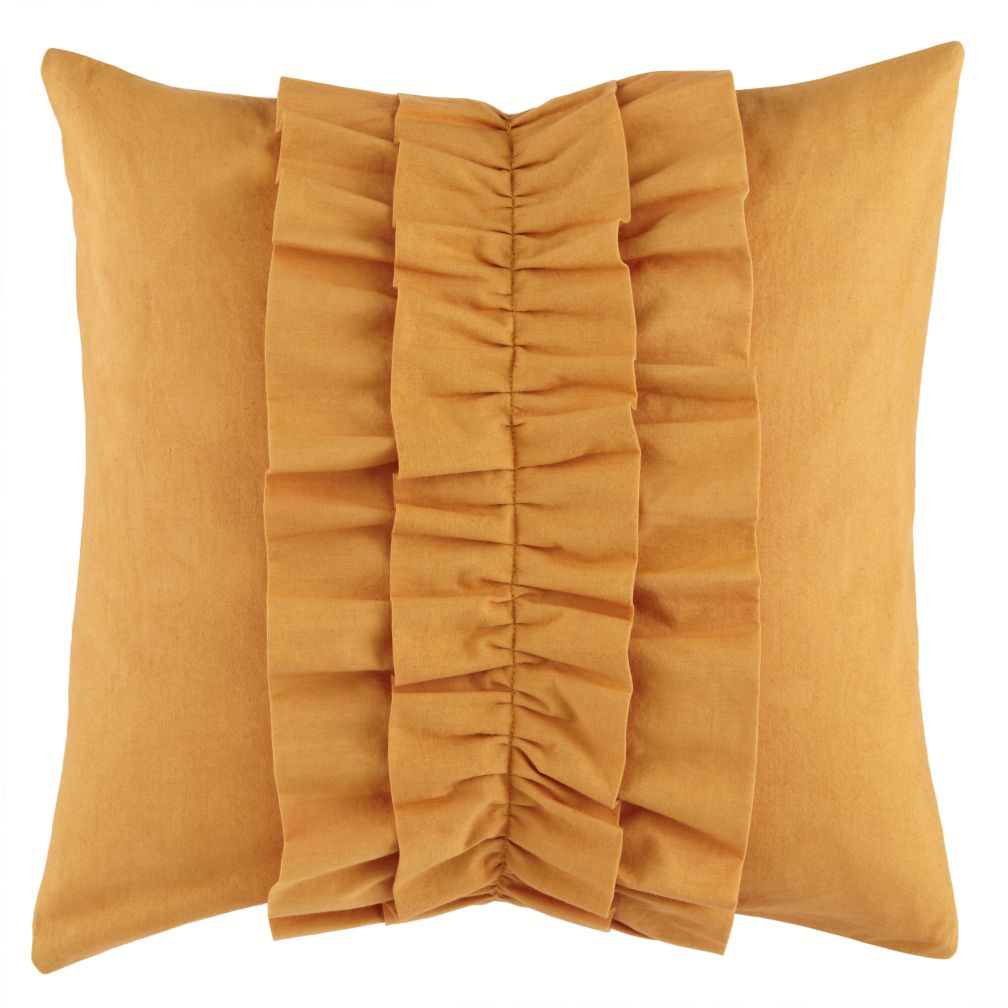 Orange Ruffle Pillow