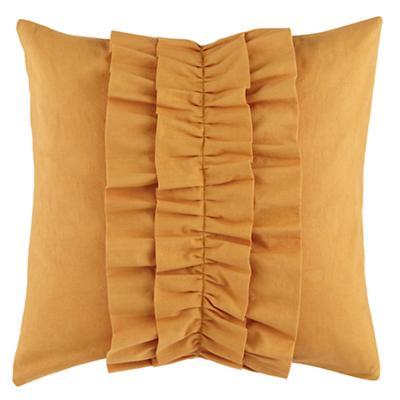 Ruffle Throw Pillow (Lt. Orange)