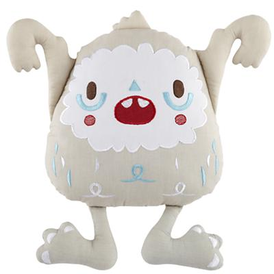 Yeti Throw Pillow (White)