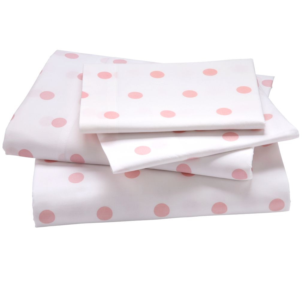 Dk. Pink Pastel Dots Sheet Set (Queen)