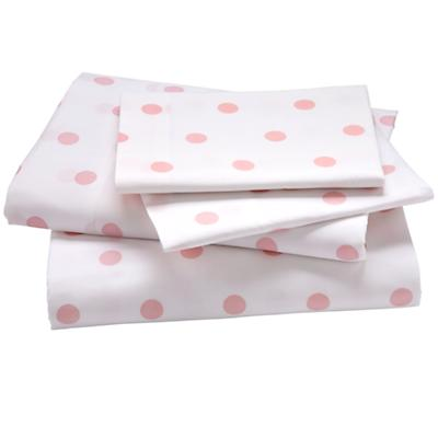 Pink Pastel Dots Sheet Set (Queen)