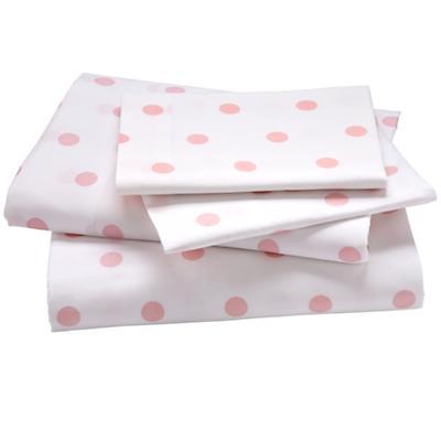 Dk. Pink Pastel Dots Sheet Set (Full)