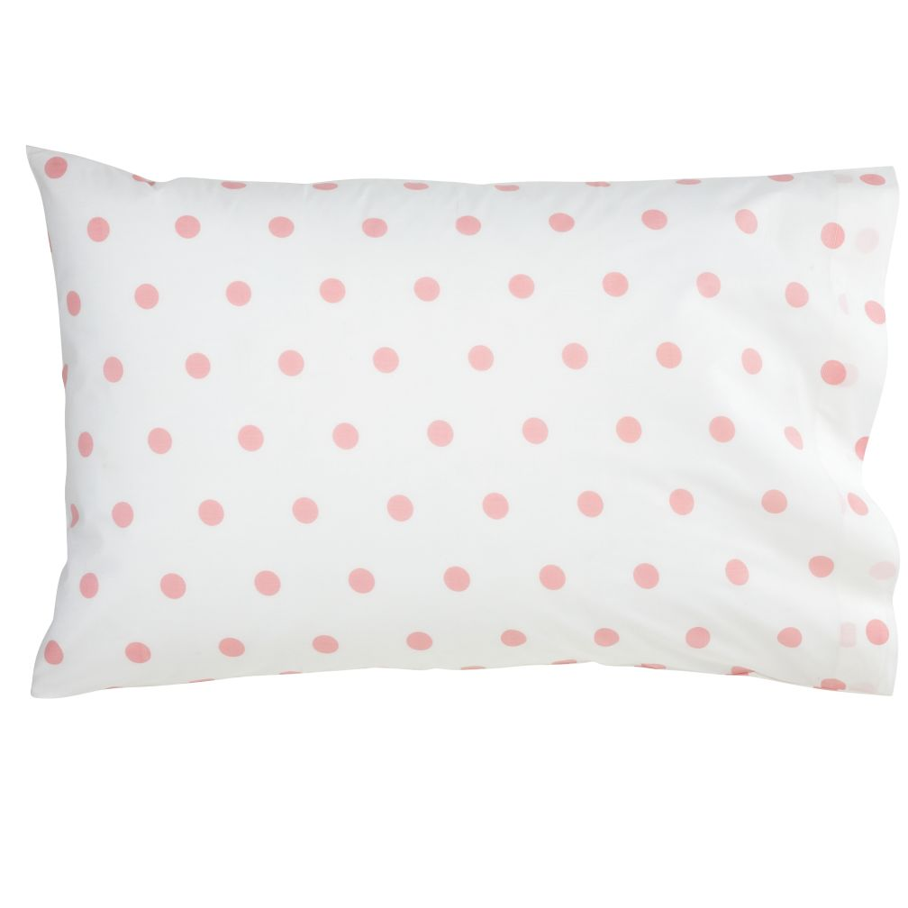 Dk. Pink Pastel Dots Pillowcase