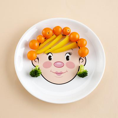Girl Food Face Plate
