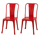 Red Set/2 Iron Rich Play Chairs