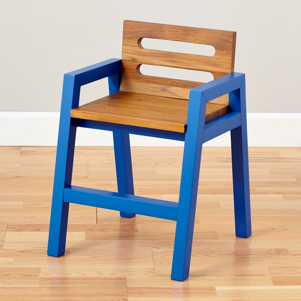 Two-Tone Teak Play Chair (Cobalt)