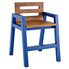 Colbalt Blue Teak Two-Tone Play Chair