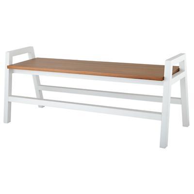 Two-Tone Teak Bench