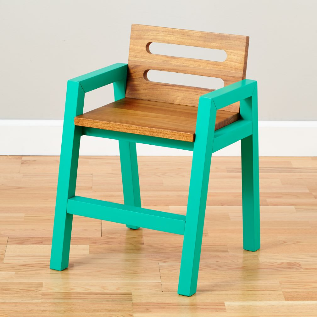 Two-Tone Teak Play Chair (Green)