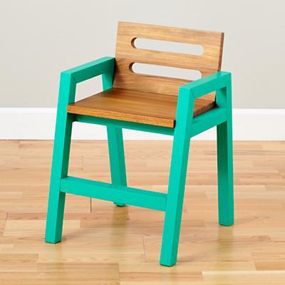 Two-Tone Teak Play Chair (Green)