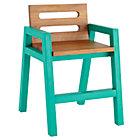 Green Teak Two-Tone Play Chair