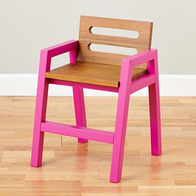 Two-Tone Teak Play Chair (Magenta)