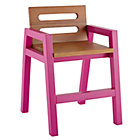 Magenta Teak Two-Tone Play Chair