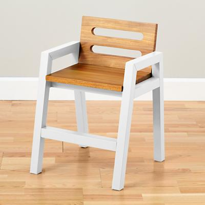 Two-Tone Teak Play Chair (White)