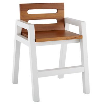Two-Tone Teak Play Chair (White)