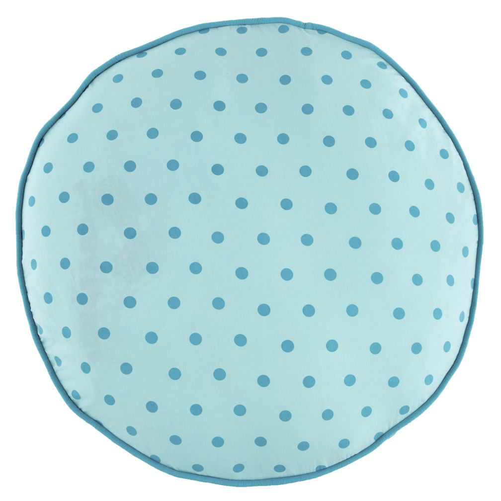 Teal Polka Dot Floor Cushion