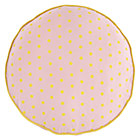 Pink Polka Dot Floor Cushion