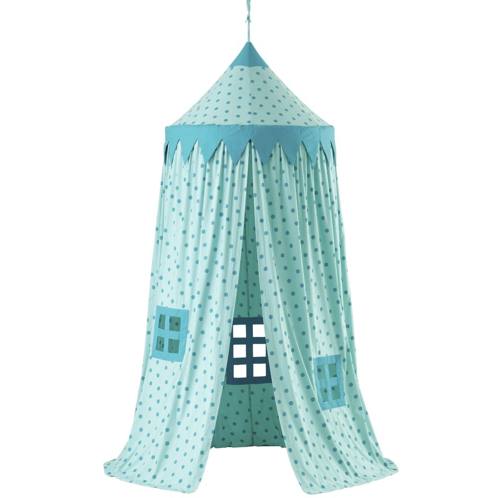 Home Sweet Play Home Canopy (Teal Polka Dot)