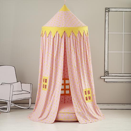 Home Sweet Play Home Canopy (Pink Polka Dot)
