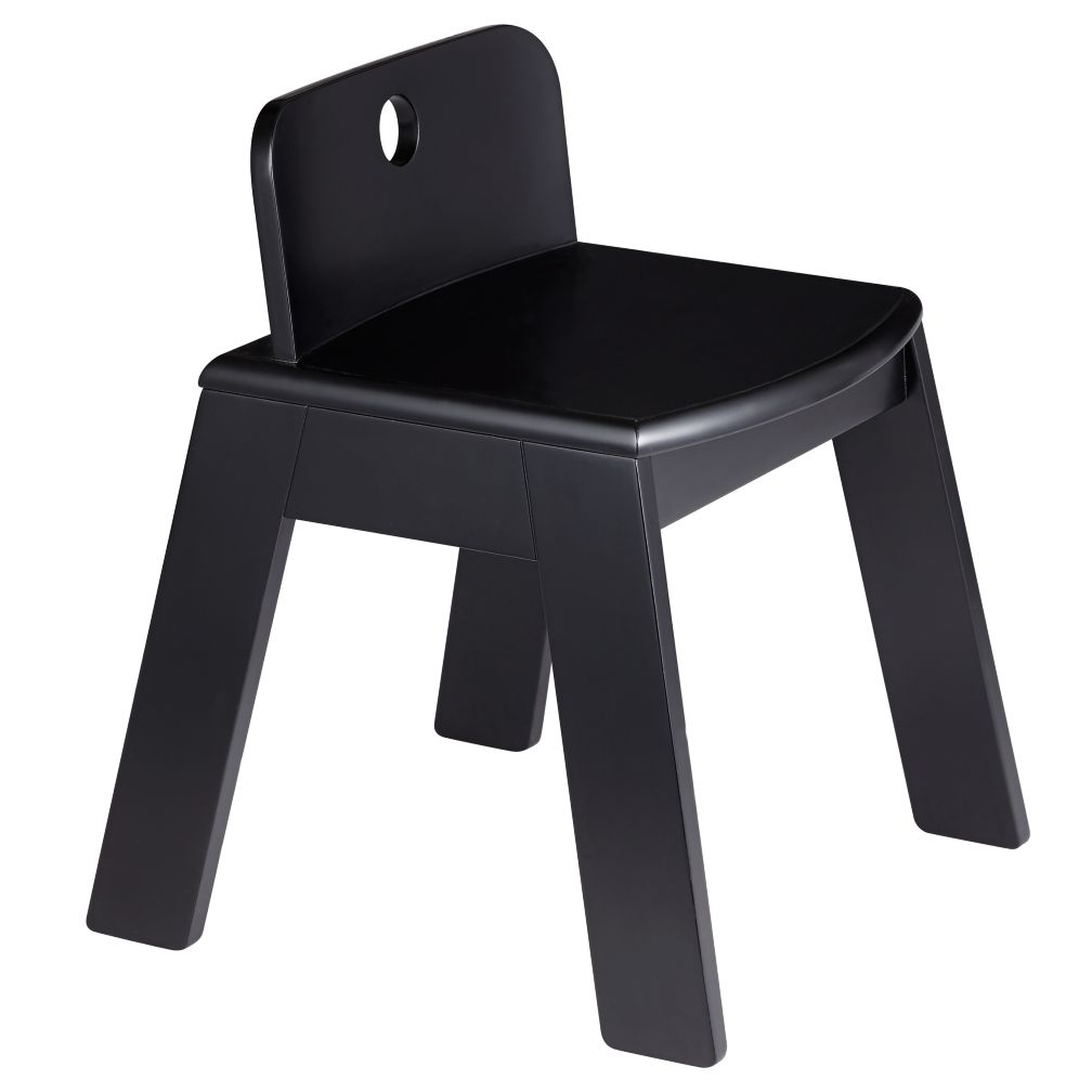 "Black Mojo Chair<br />Floor to Seat: 14"" H <br/>"