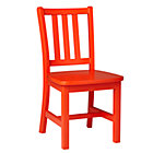 "Orange Parker Play ChairFloor to Seat: 14"" H"