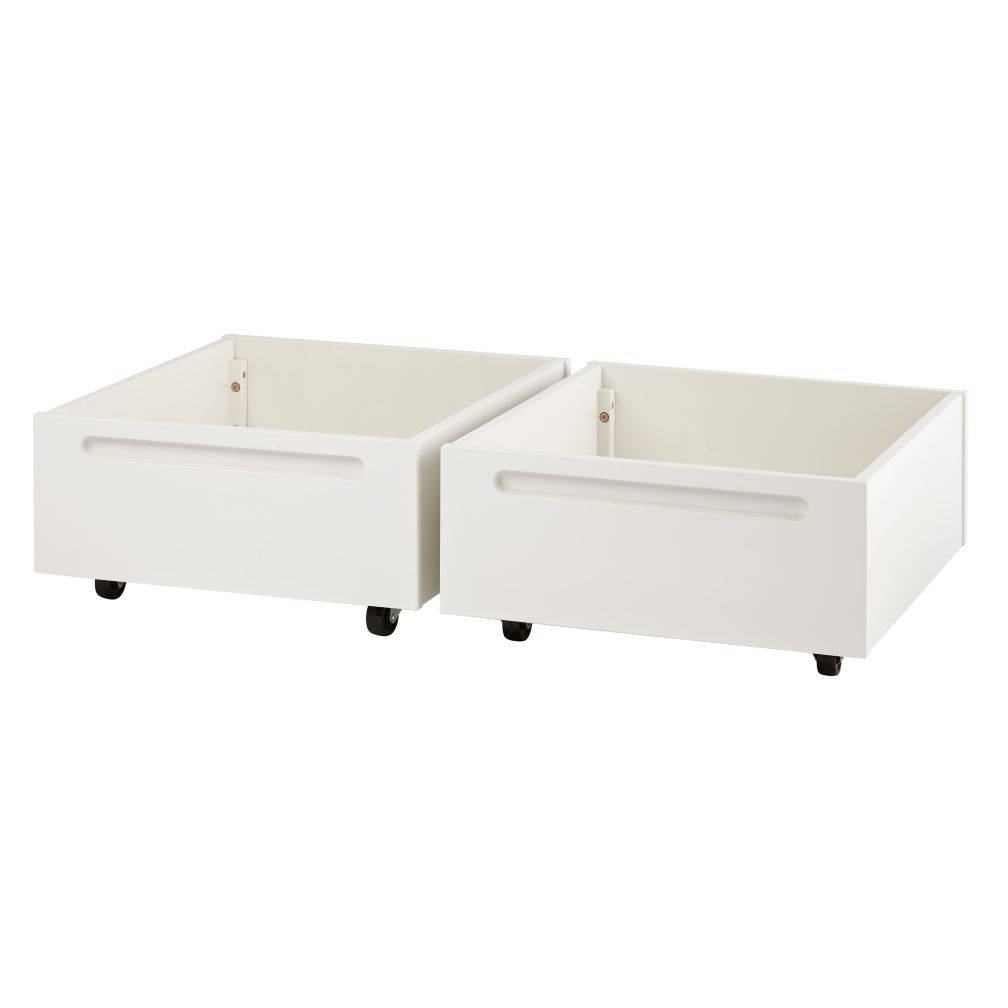 Set of 2 Extracurricular Play Table Bins (White)