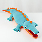 Blue Plush Alligator