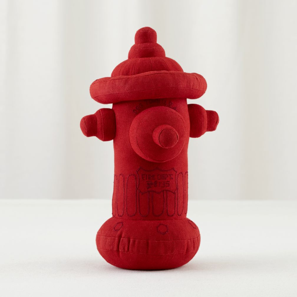 Plush Red Fire Hydrant