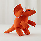 Orange Fred Triceratops Plush Dinosaur