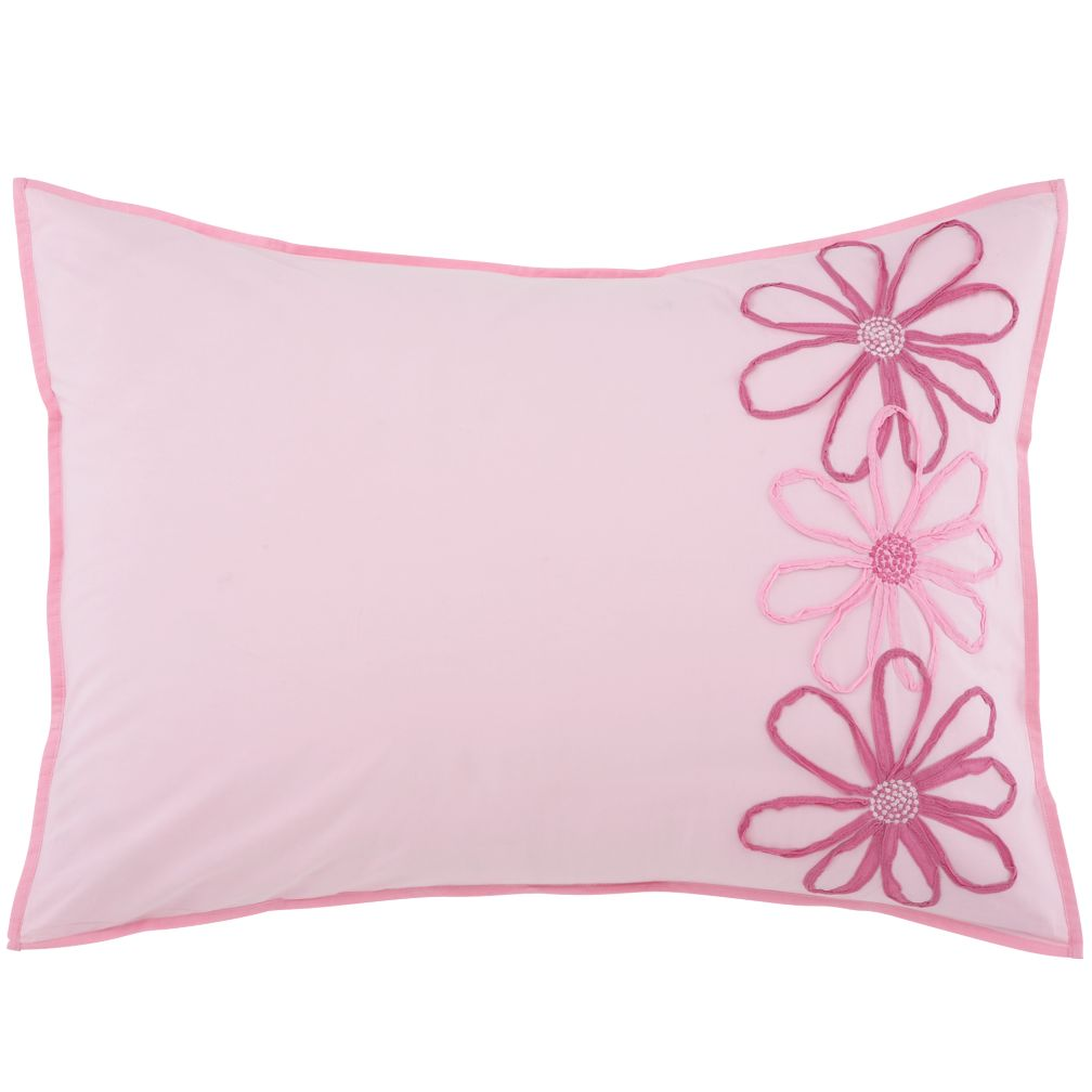 Pink Flower Sham