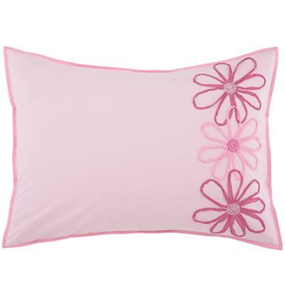 Pink Flower Sham