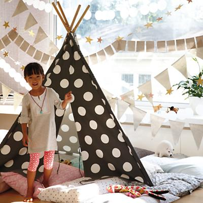 A Teepee to Call Your Own (Grey w/White Dot)