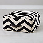 Chevron Black/White Pouf