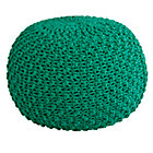 Green Knit Pouf Seat