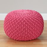 Pull Up a Pouf (Pink Knit)