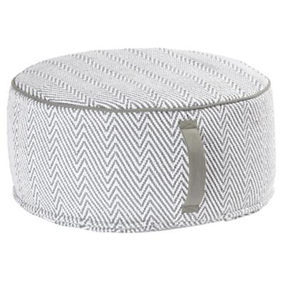 Large Grey Herringbone Pouf