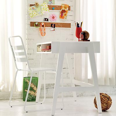 Prairie School Desk (White)