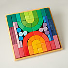 Big Box of Colorful Blocks SetIncludes 62 Blocks