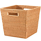 Honey Rattan Cube Basket