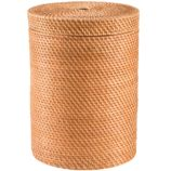 Rattan Hamper with Lid (Honey)