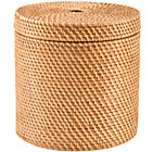 Honey Rattan Round Floor Basket