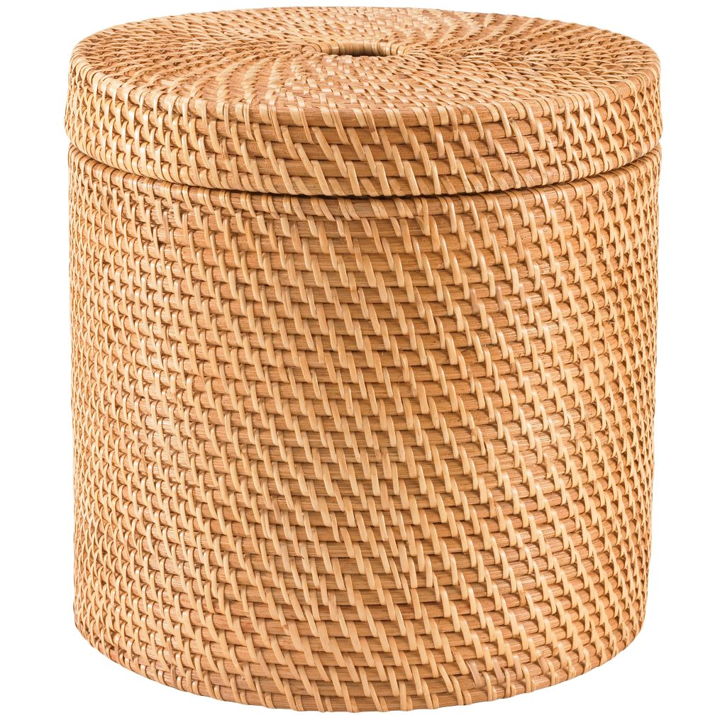 Rattan Round Floor Basket (Honey)