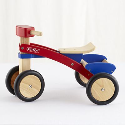 Wooden Blue Red Pickup Trike