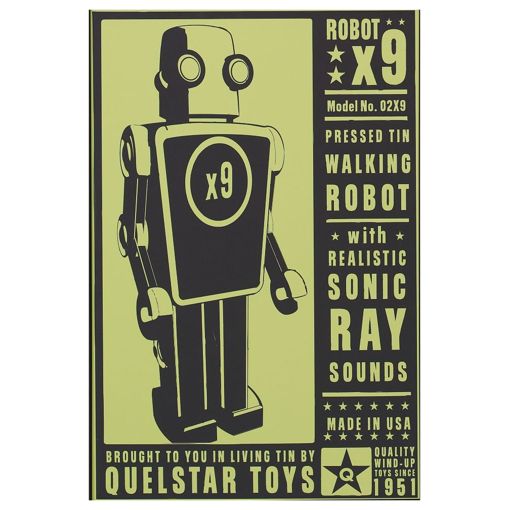 They&#39;re Heeere Outer Space Unframed Wall Art (Robot)