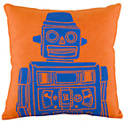 Orange Robot Pillow